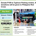 P100 to Spare for Typhoon Pedring Victims