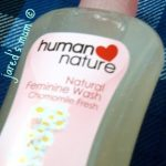 product review: human heart nature's chamomile fresh feminine wash