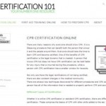 CPR Certification 101 ~ your one-stop site for everything CPR