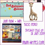 Babypalooza Sand Puff + Sophie the Giraffe Teether Giveaway Winners!