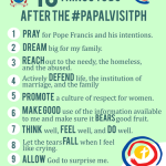 Here Are 10 Things To Do After The Papal Visit