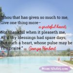 Thankful Thursday: Of Gratitude + Praise
