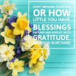 Thankful Thursday: Of Blessings + Gratitude