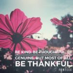 Thankful Thursday: Of Gratitude + Thankfulness