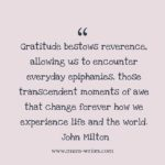 Thankful Thursday: Of Gratitude + Everyday Epiphanies