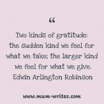 Thankful Thursday: Of Giving + Gratitude