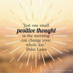 Mum Inspires: One Small Positive Thought In The Morning