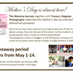 giveaway alert: a photo shoot giveaway by the mommy journey