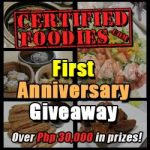 giveaway alert: certified foodies first anniversary giveaway