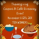 winners of thanksgiving coupon + cash giveaway