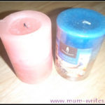 a pink candle for all saints' day