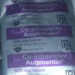 anti-biotics + pain reliever morning