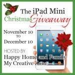 The iPad Mini Christmas Giveaway {10 November – 10 December}