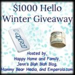 The Hello Winter $1000 Cash Givecx away