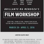 Join The Brillante Ma Mendoza's Film Workshop