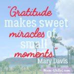 Thankful Thursday: Of Gratitude, Miracles, +Moments